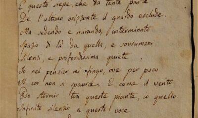 L'INFINITO di Giacomo Leopardi. L'Italia si mobilita per far riecheggiare i suoi versi a 200 anni dalla composizione.