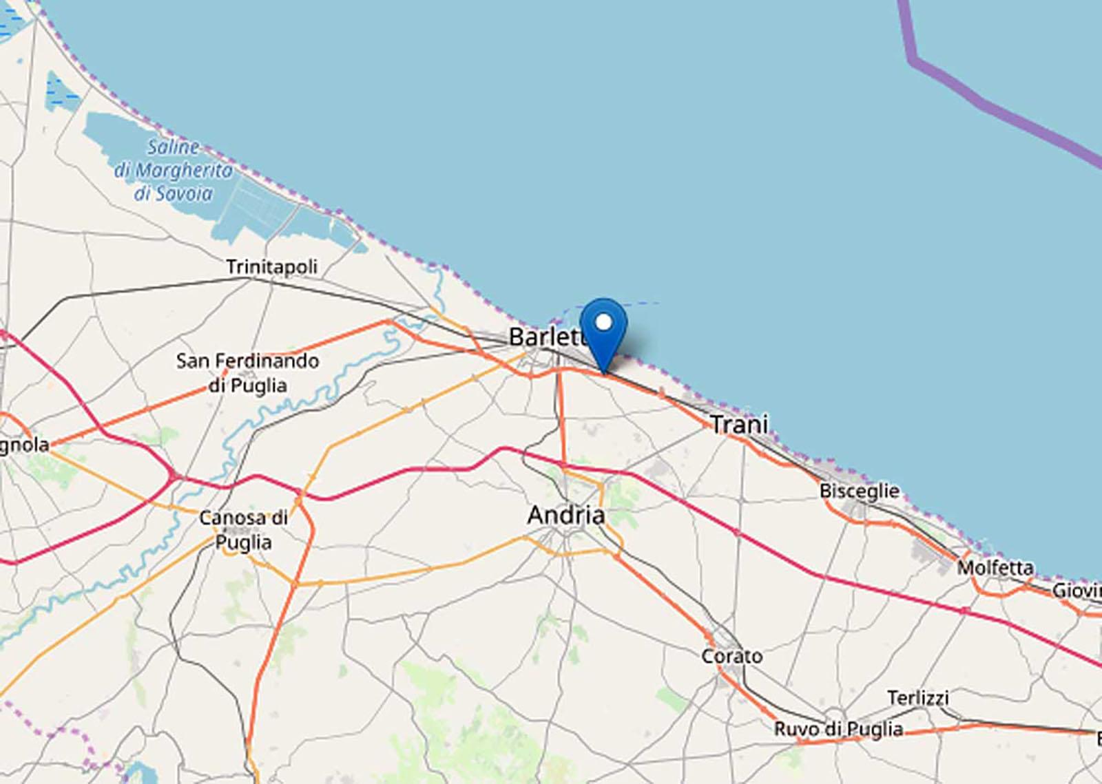 Terremoto Puglia qui italia