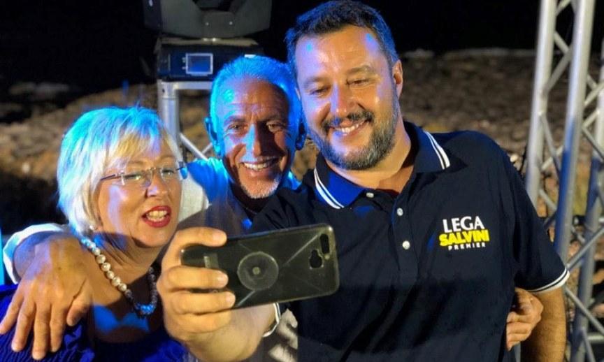 Matteo Salvini, selfie