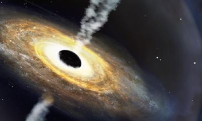 spazio: rappresentazione artistica di un quasar