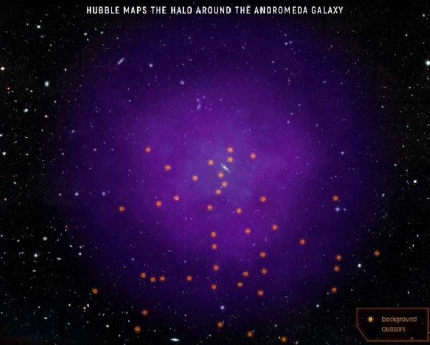 meraviglie spaziali: l'alone della galassia di andromeda