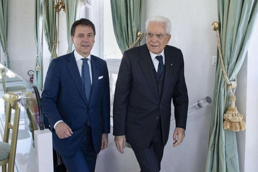 il premier si è dimesso: conte e mattarella